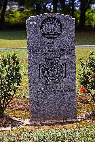 Terendak Camp - A grave at the military cemetery in Terendak Camp.