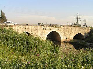 Jisr Jindas bridge in Israel