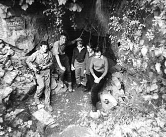 Bakers Pit - Baker's Pit Cave entrance in 1961