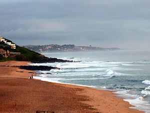 English: Early morning on the beach in Ballito...