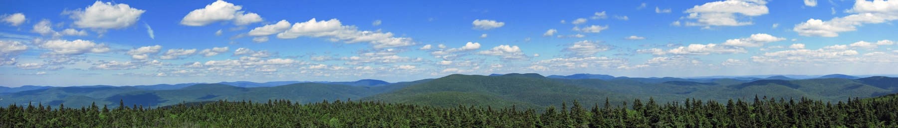 Panorama of the Catskills from the Balsam Lake Mountain fire tower