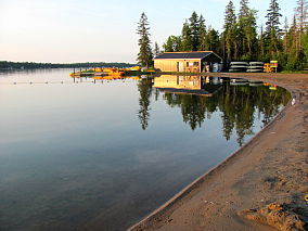 Balsam Lake Provincial Park at sunrise.jpg