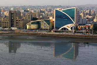 Bandar Abbas - A view of the Taleghani Boulevard area