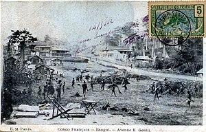 Bangui - A street scene in Bangui, 1912.