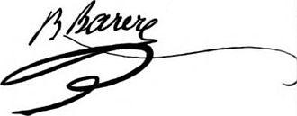 Bertrand Barère - Image: Barère de Vieuzac Signature