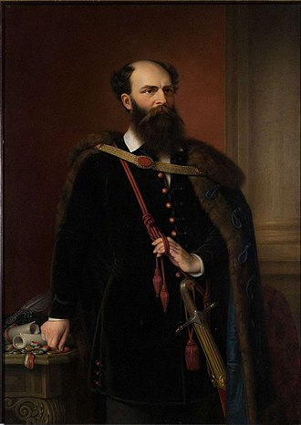 Prime Minister of Hungary - Portrait of Count Lajos Batthyány by Miklós Barabás, 1848. He was appointed as Hungary's first Prime Minister.