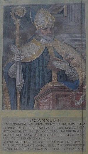 Basilika Seckau, Bischofskapelle, Halbfigurenportrait Bischof Johann I. von Neuberg.jpg