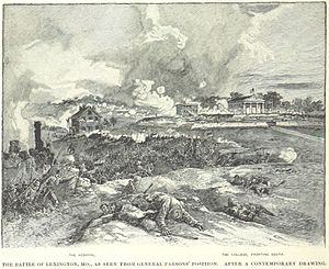 First Battle of Lexington - Image: Battle of Lexington from General Parsons' position