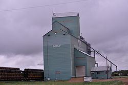 Bawlf grain elevator on the outskirts of the village along Alberta Highway 13, 2013