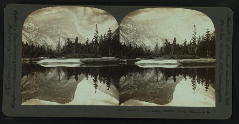 Beautiful Mirror Lake, Yosemite Valley, Cal. U.S.A, by Singley, B. L. (Benjamin Lloyd) 2.png