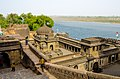 Beautiful cenotaph complex at Maheshwar on the banks of Narmada river.jpg