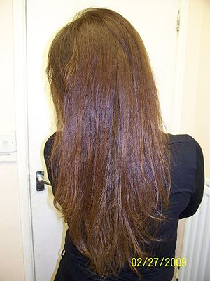 English: Beautiful natural healthy hair