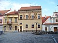 Bechyně, náměstí, severní strana, domy 20, 19, 18.jpg