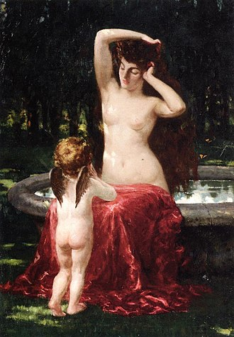 James Carroll Beckwith - Image: Beckwith James Carroll Sylvan Toilette