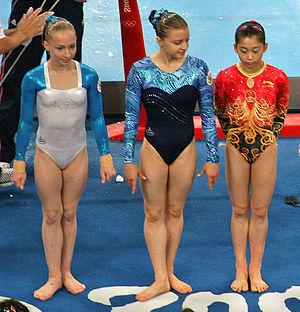 Anna Pavlova (gymnast) - Image: Beijing 2008gymnasticsgroupb 1