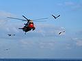 Belgian Air Force Sea King RS01 at sea.jpg