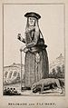 Belgrade and her dog Clumsey, with a military camp in the ba Wellcome V0007471.jpg