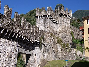 Bellinzona - The Murata or city wall of Bellinzona