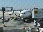 Ben Gurion International Airport מטוס של סוויס.JPG
