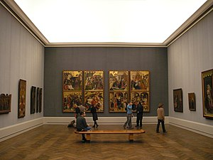 Gemäldegalerie, Berlin - One of the rooms with German medieval religious paintings