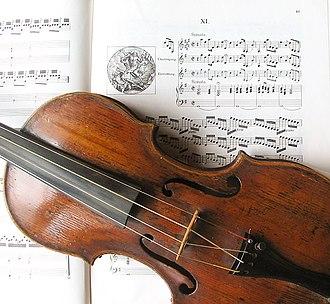 Scordatura - Violin with strings crossed for Biber's Resurrection sonata
