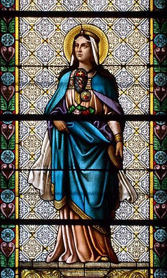 Elizabeth of Hungary - Image: Biserica Minoritilor din Cluj Sf. Elisabeta de Thuringia