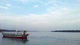 Jhalokati District - Image: Bishkhali river in Jhalokathi, Bangladesh