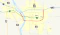 Bismarck Expressway map.png
