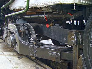 Bissel truck - Guide frame of a Bissel truck on French SNCF Class 141R1199 2-8-2 steam locomotive