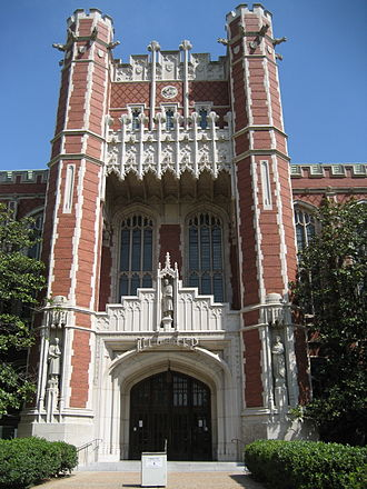 University of Oklahoma - Bizzell Library sits at the heart of the university's Norman campus.