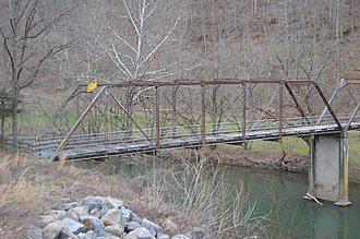 National Register of Historic Places listings in Russell County, Virginia - Image: Blackford Bridge northern span
