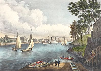Blackwells Island East River 1862 crop
