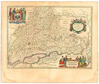 Don River (Russia) - Image: Blaeu 1645 Russiæ vulgo Moscovia pars australis