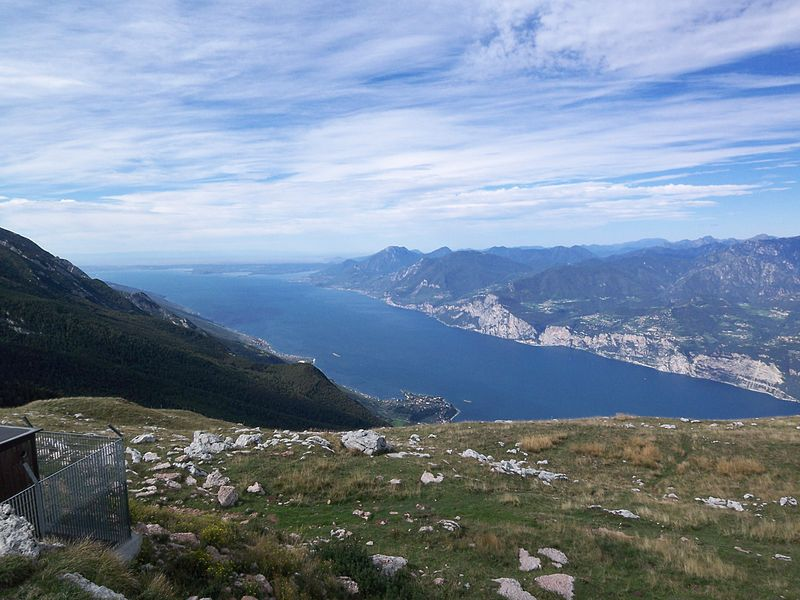 File:Panoramic view from Monte Baldo on Lake Garda.JPG