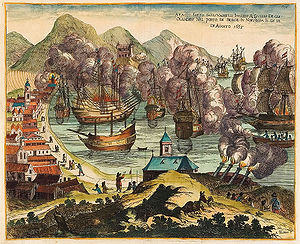 Battle of Vågen - Image: Bloem Vaagen 1665