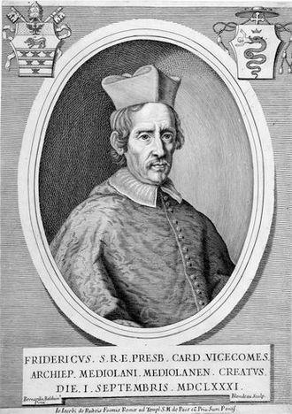 Jacques Blondeau - Engraved portrait of Cardinal Federico Visconti, 1681
