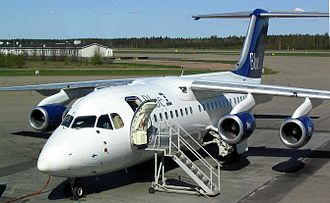 British Aerospace 146 - An Avro 146-RJ85 at Turku Airport, Finland, 2005
