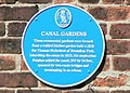 Blue Plaque, Canal Gardens, Roundhay - geograph.org.uk - 202476.jpg
