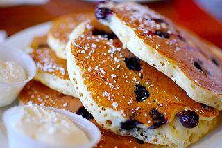 Pancake Thin, round cake made of eggs, milk and flour