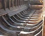 Repaired frames, barge hull. Sa Dec , Mekong Delta .