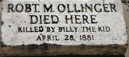 Bob Ollinger death marker