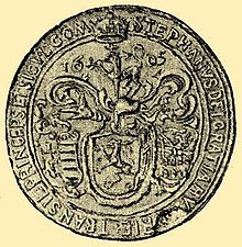 A seal depicting a coat-of-arms