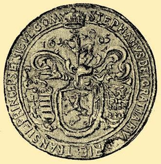 """Early Modern Romania - Seal of Stephen Bocskay, """"By the Grace of God, Prince of Hungary and Transylvania, Count of the Székelys"""""""