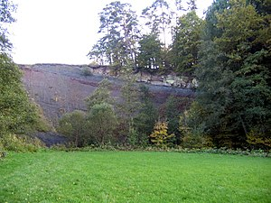 Red Main - Keuper outcrop on the Bodenmühlwand