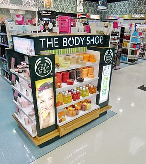 The Body Shop - The Body Shop stand at New Zealand department store Farmers