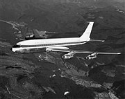 """Boeing 707 """"Stratoliner"""", 3rd 707-121 production airplane, N709PA, later delivered to Pan Am"""