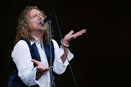 Plant performing with Alison Krauss at the 2008 Bonnaroo Music Festival in Manchester, TN, 2008. Bonnaroo08 robertplant1 lg.jpg