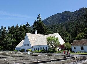 Bonneville, Oregon - Historic incubation building at the Bonneville Hatchery
