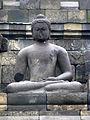 Borobudur - Buddha Statue - 016 Bhumisparsa Mudra, Akshobhya (11678809145).jpg