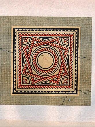 Borough Hill Roman villa - Image: Borough Hill Floor